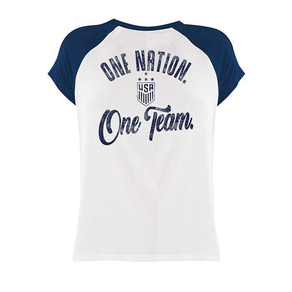 Women's 5th & Ocean WNT Raglan Distressed Tee