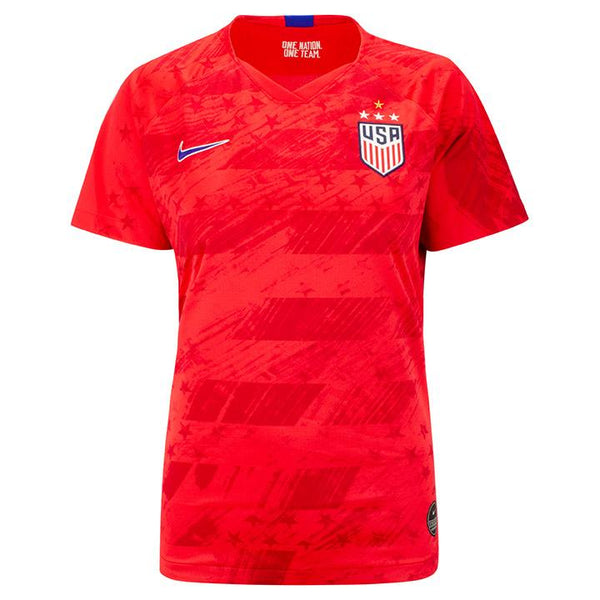 WOMEN'S NIKE USA 4-STAR BREATHE STADIUM HEATH 17 AWAY JERSEY - RED