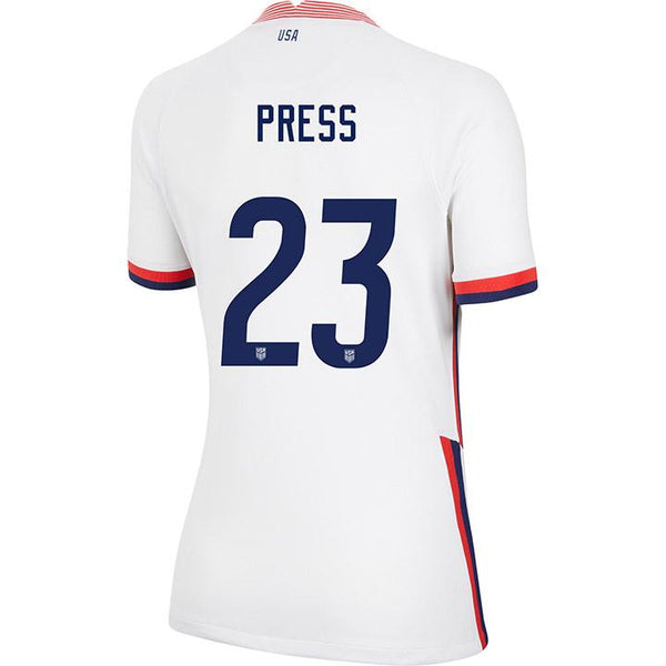 Women's Christen Press Nike Home White Jersey