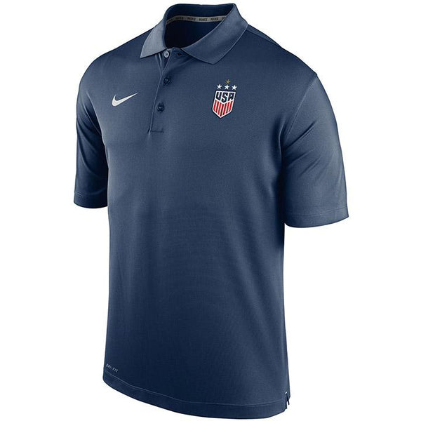 Men's Nike USWNT Varsity Navy Polo