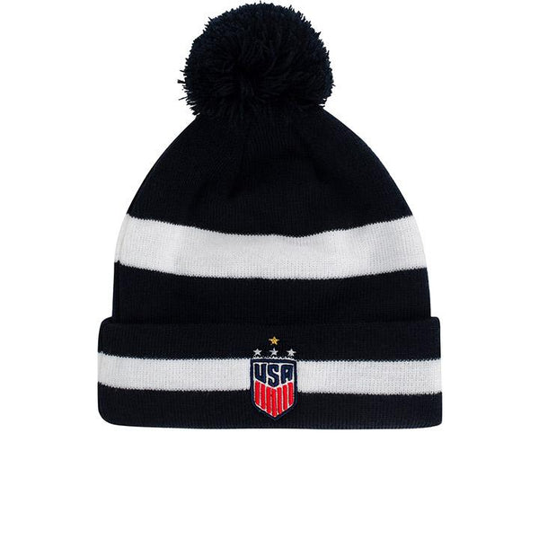 New Era USWNT Striped Pom Cuff Knit