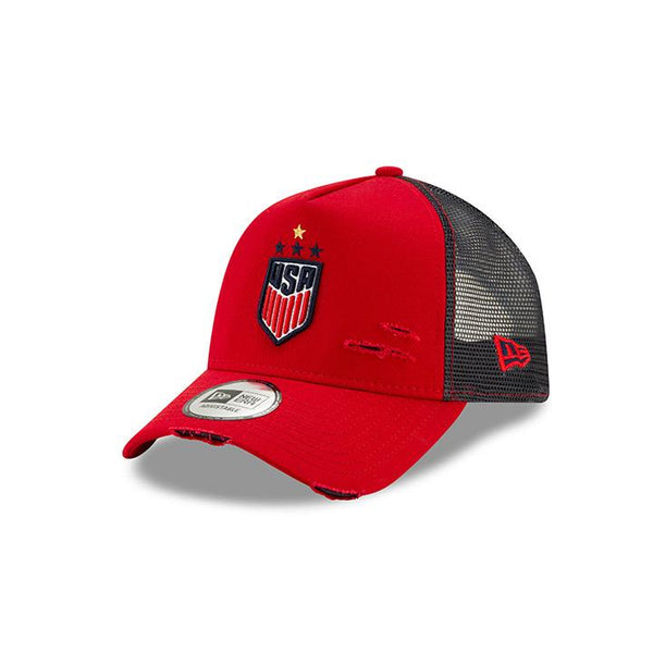 New Era USWNT 940 Distressed Trucker Hat