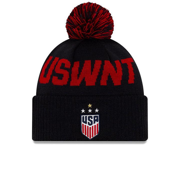 New Era USWNT Navy Pom Cuff Knit Beanie