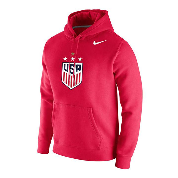 MEN'S NIKE WNT 4-STAR CLUB FLEECE HOODY - RED