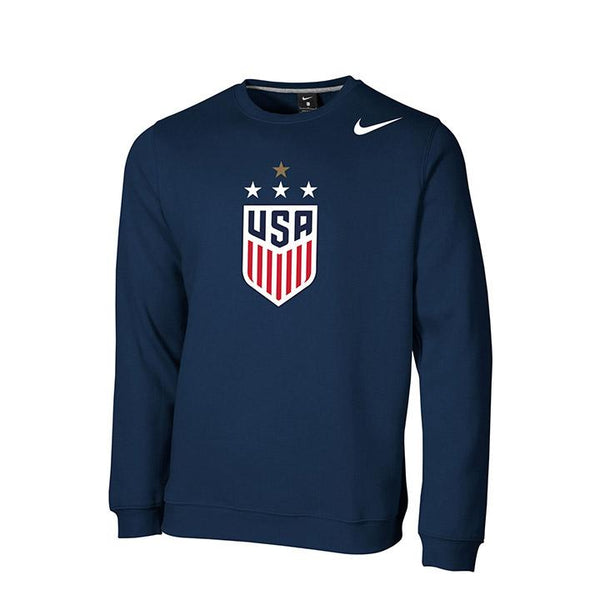 Men's Nike USWNT Club Fleece Navy Crew