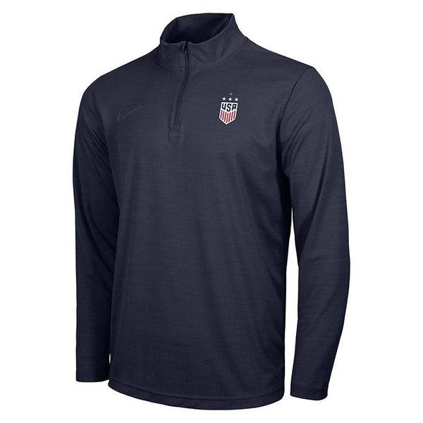 Men's Nike USWNT Intensity Navy 1/4 Zip