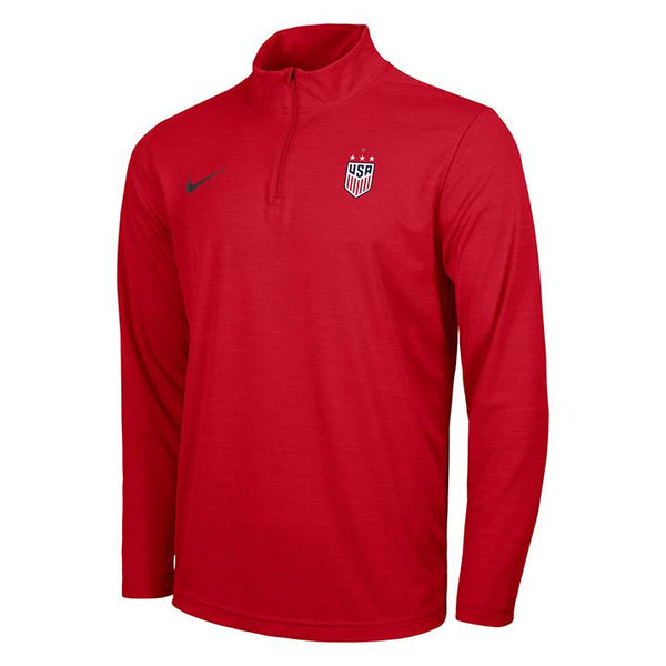 Men's Nike USWNT Intensity Red 1/4 Zip