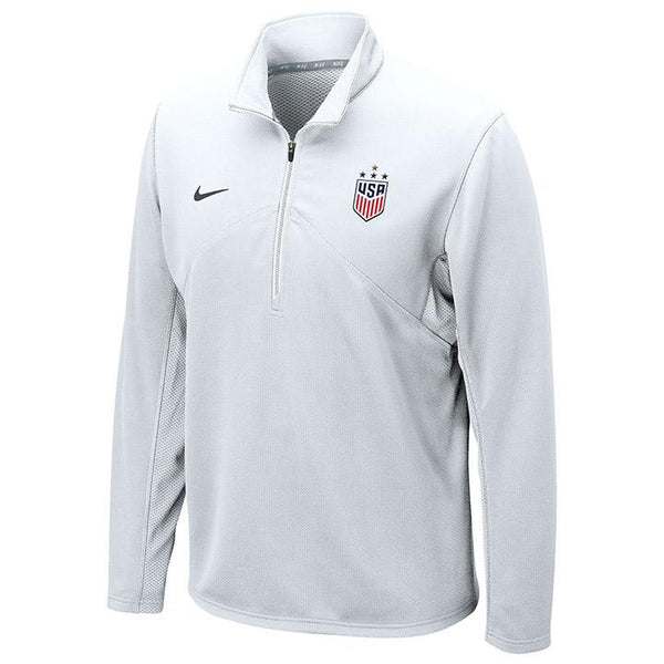 Nike WNT Dri-Fit Training White 1/4 Zip Top