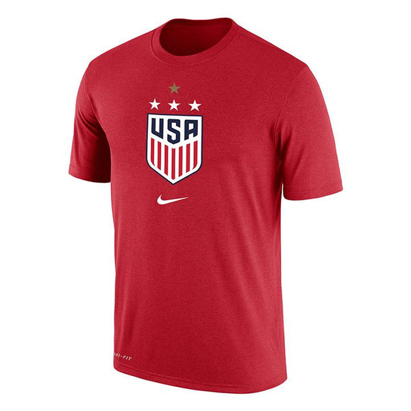 Nike WNT Dri-Fit Red Tee