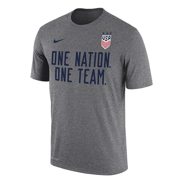 Men's Nike USWNT Dri-Fit One Team Grey Tee