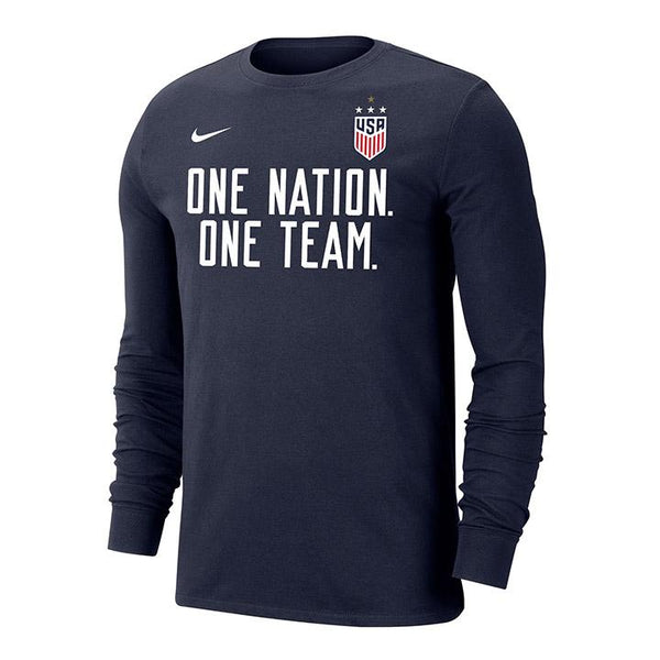 Men's Nike USWNT Dri-Fit One Team L/S Navy Tee