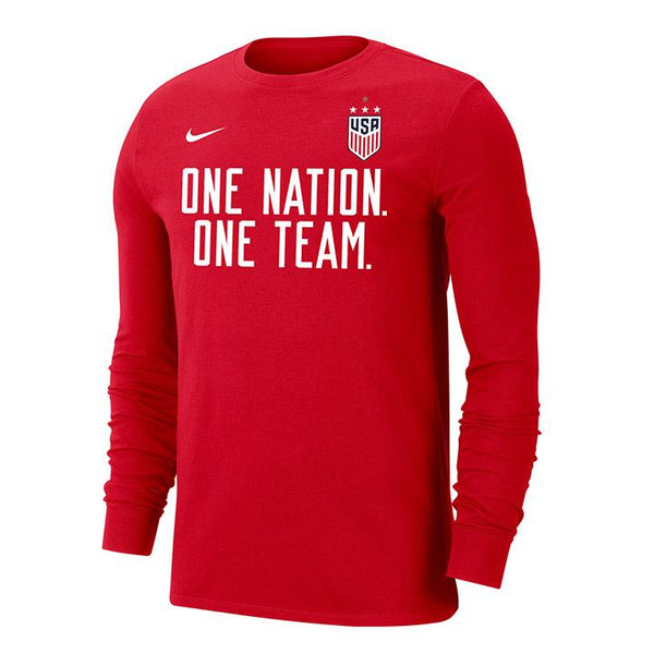 Men's Nike USWNT Dri-Fit One Team L/S Red Tee