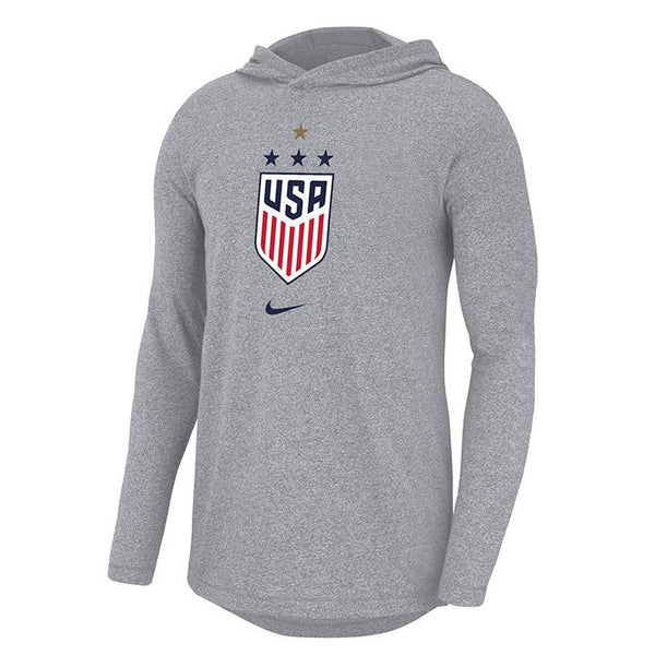 Nike WNT Marled Gray Long Sleeve Hoody