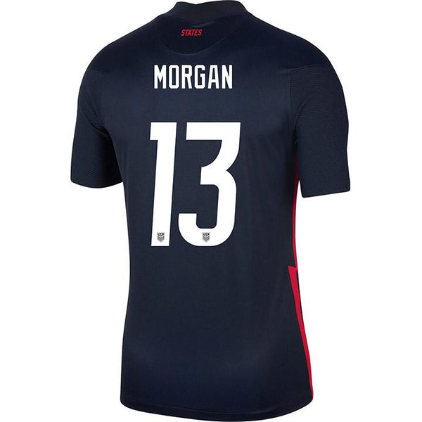 Men's Alex Morgan Nike Away Navy Jersey