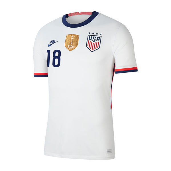 Youth Jane Campbell USWNT Nike Home White Jersey