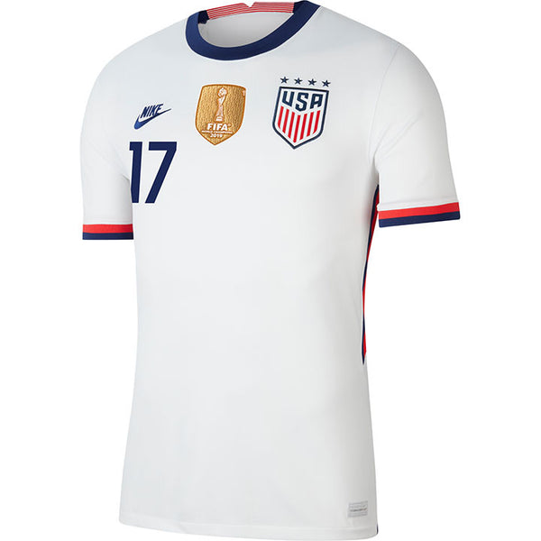 Men's Tobin Heath USWNT Nike Home White Jersey
