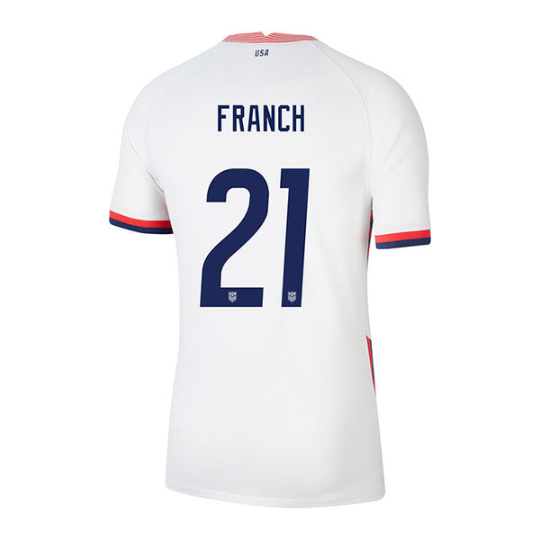 Youth Adrianna Franch USWNT Nike Home White Jersey