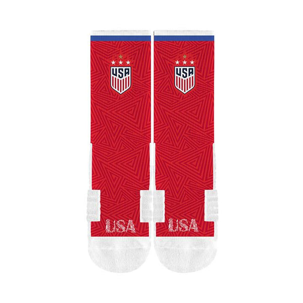 STRIDELINE WNT CREW SOCK RED