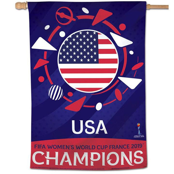 Wincraft USA 2019 World Cup Champions 28x40 Vertical Flag