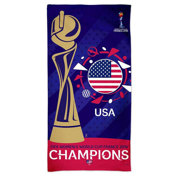 WINCRAFT WNT 2019 WORLD CUP CHAMPIONS BEACH TOWEL