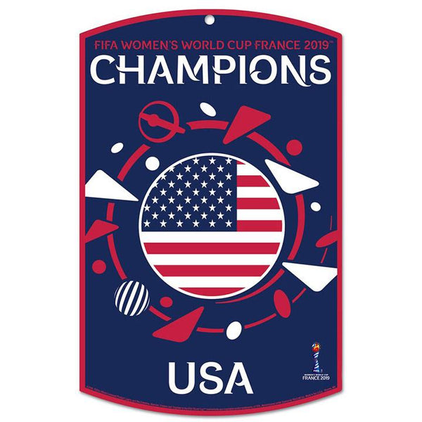 WINCRAFT WNT 2019 WORLD CUP CHAMPIONS WOOD SIGN