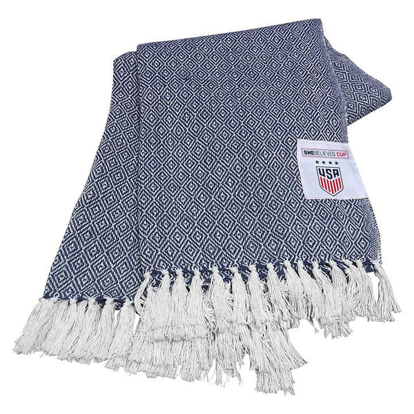 Logo Brands USWNT SBC Farmhouse Throw Blanket