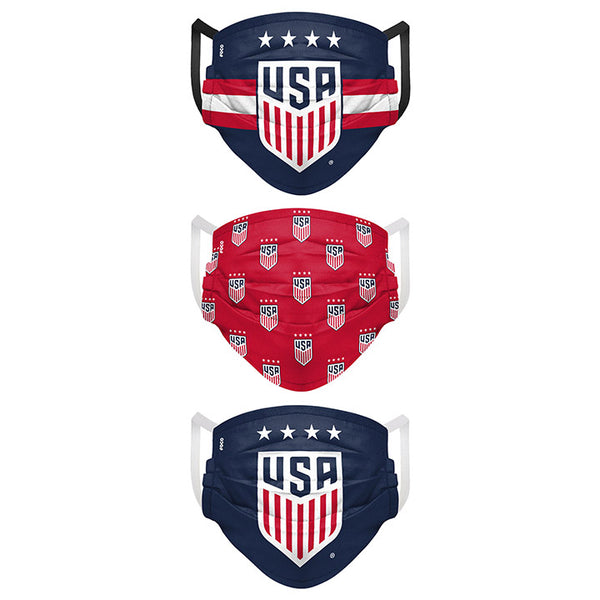 FOCO USWNT Matchday 3 Pack Face Cover