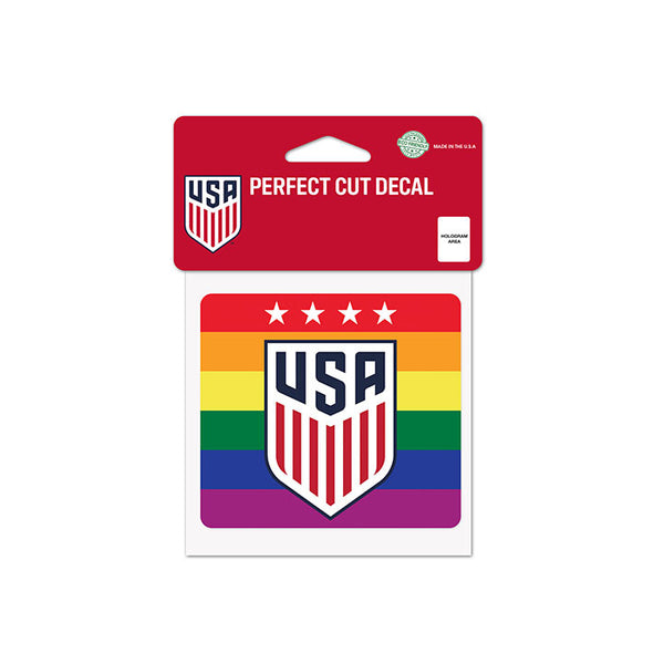 "Wincraft USWNT Pride 4"" x 4"" Perfect Cut Decal"
