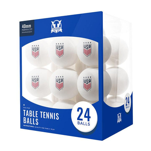 Victory Tailgate WNT 24pc Table Tennis Balls
