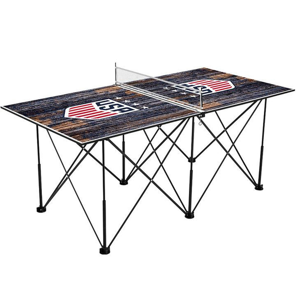 Victory Tailgate WNT 6ft Weathered Pop Up Table Tennis