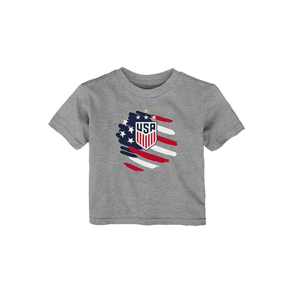 NEWBORN OUTERSTUFF WNT FLAG TEE