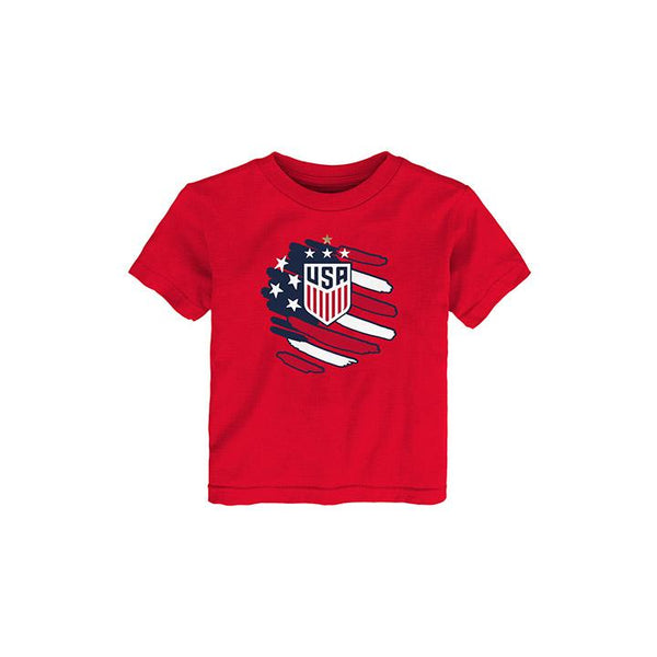 Toddler Outerstuff USWNT Flag Red Tee