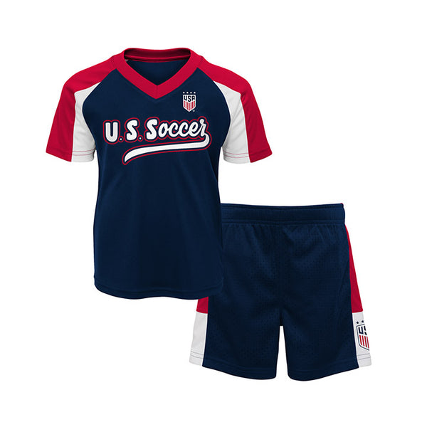 Toddler Outerstuff USWNT Shooter Navy 2 Piece Navy Set