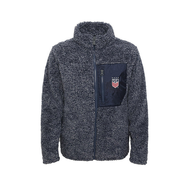 Youth Girls Outerstuff USWNT Sherpa Navy Jacket