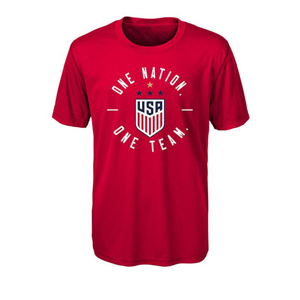 YOUTH OUTERSTUFF WNT ONE NATION ONE TEAM PERFORMANCE TEE