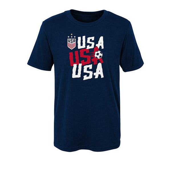 Youth JR Outerstuff USWNT USA Chant Navy Tee