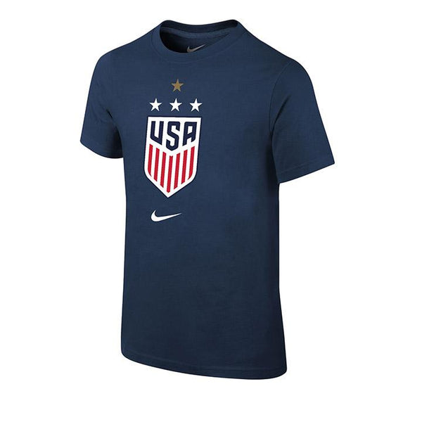 Youth Nike USWNT Core Cotton Navy Tee