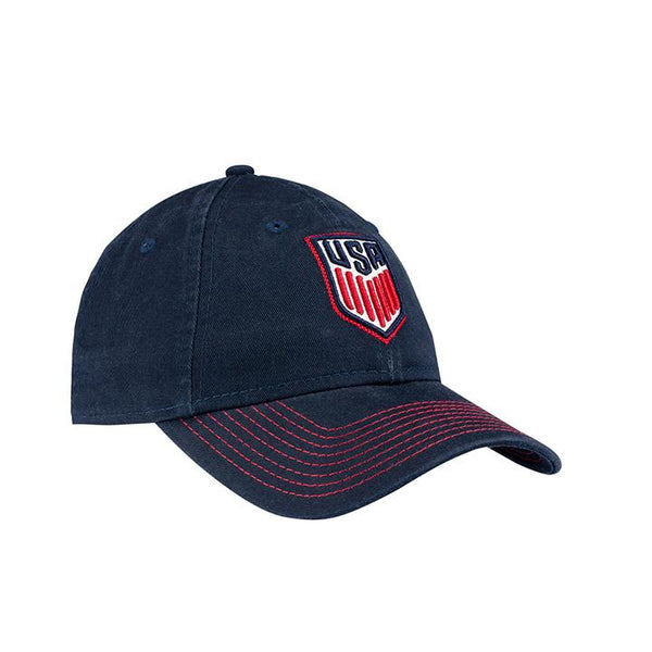 WOMENS NEW ERA USA 9TWENTY STITCHED CLASSIC HAT - NAVY
