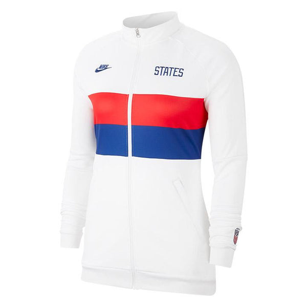 Women's Nike States Anthem I96 White Track Jacket