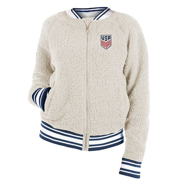 Women's Fifth & Ocean USA Sherpa Full Zip Jacket