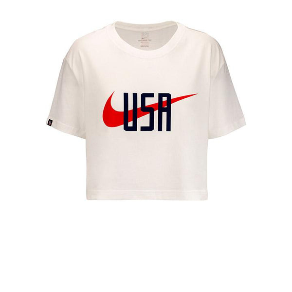 Women's Nike USA Squad White Tee