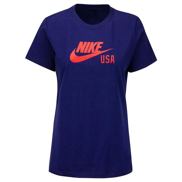 Women's Nike Swoosh Blue Ground Tee