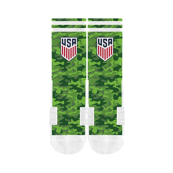 STRIDELINE CREST CAMO SOCK - GREEN