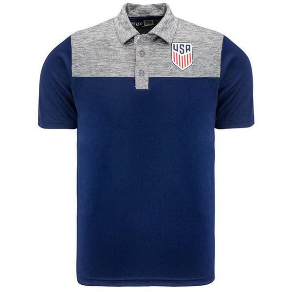 Men's 5th and Ocean USA Crest LC Polo