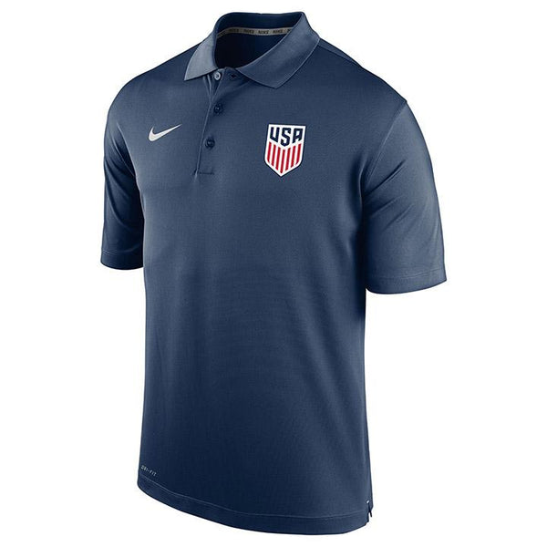 Men's Nike USA Varsity Navy Polo