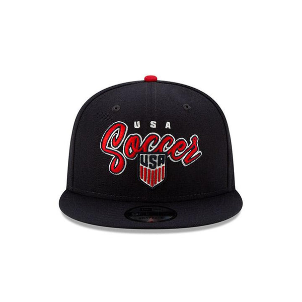 New Era USA 9Fifty Retro Script Navy Hat
