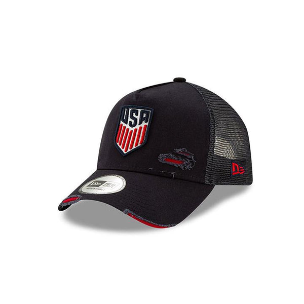 New Era USA 9Forty Distressed Trucker Hat