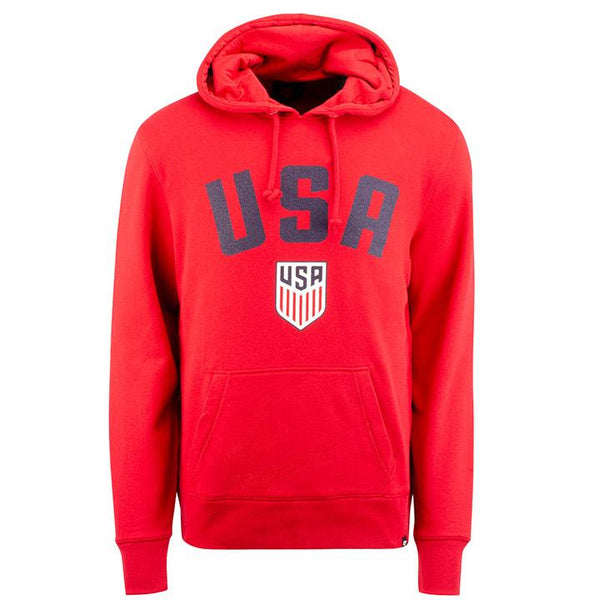 Men's '47 USA Headline Pullover Red Hoody