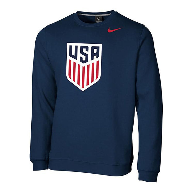 Men's Nike USA Fleece Crew Navy Sweatshirt
