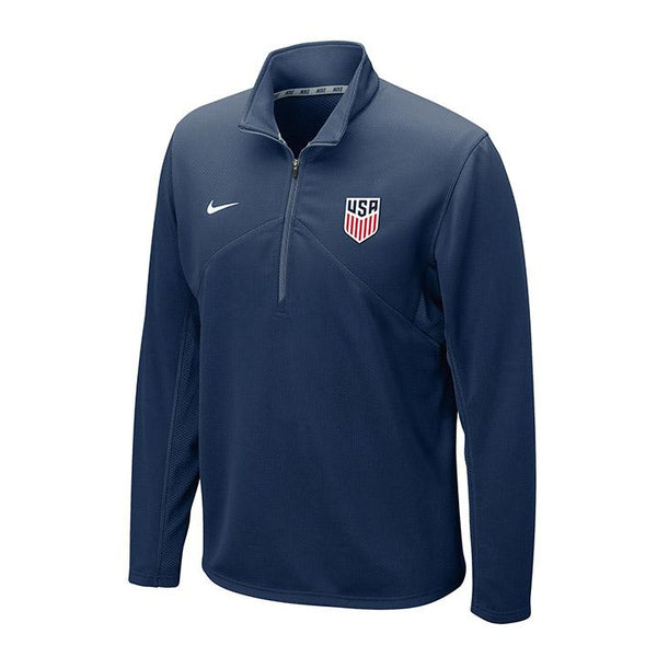 Nike Dri-Fit Training Navy 1/4 Zip Top